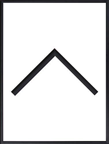 91 Matt (RahmenMax Aluminium Bilderrahmen Alaska 61 x 91 cm aktuelle Farbe: Schwarz Matt mit Acrylglas klar 1mm Echtes Metall/Aluminium)