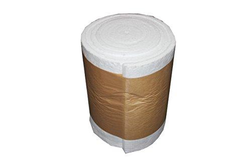 Keramikfasermatte bis 1200°C verschiedene Abmessungen, 25,4mm dick (Abmessung, 2000 x 610 x 25,4mm) (Ofen-isolierung)