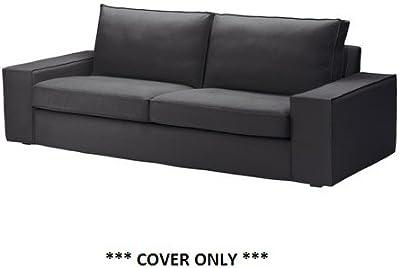 IKEA KIVIK - Cubierta sofá de tres plazas, Dansbo gris oscuro