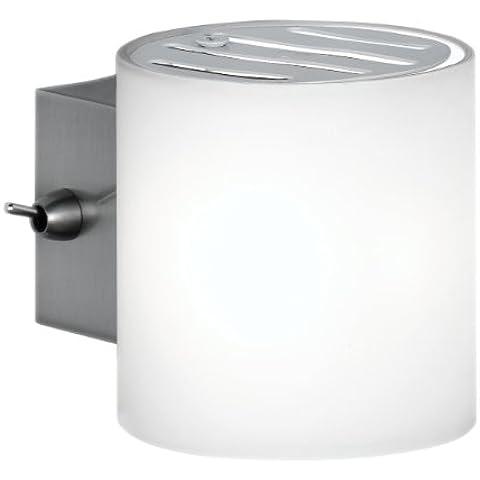 WOFI 4451.01.64.0500 - Lámpara de pared con interruptor, casquillo G9, bombilla de 40 W, 230 W, color blanco mate