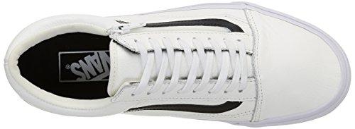 Vans - U Old Skool Zip Leather, Sneaker Unisex – Adulto Bianco (Premium Leather/True White)