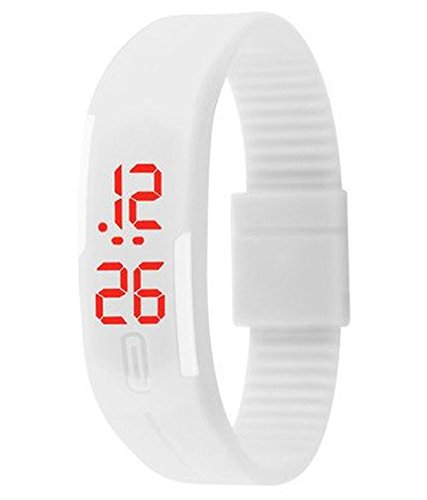 krupa enterprise digital white dial white step color,kids chronograph watch  available at amazon for Rs.159