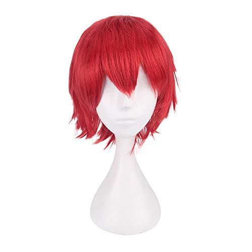 serliy Multi Farbe kurze glatte Haare Perücke Anime Party Cosplay Voller Verkauf Perücken 35cm (rot) (Verkauf Halloween Perücken)