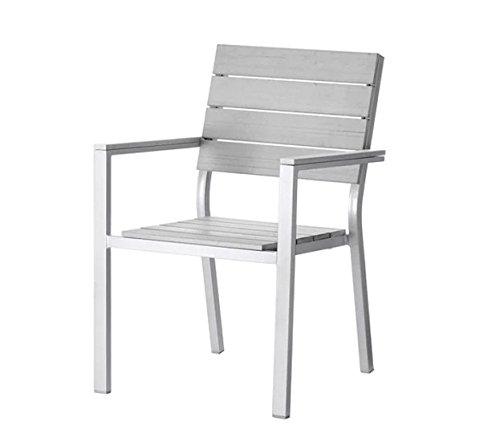 Empire Paintball Durable Bois Massif Chaise d'extérieur avec accoudoirs