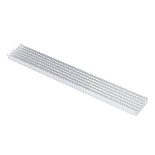 Aluminium Kühlkörper Kühlkörper Modul Kühler Fin für High Power Verstärker Transistor Halbleiter Geräte mit 7Pcs Flossen 15cm (L) X 2cm (W) X 0,6cm (H) 1/150mm (L) X 20mm (W) X 6mm (H) -