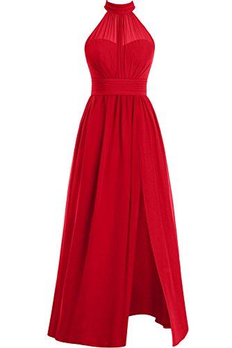 Abendkleider lang rot chiffon