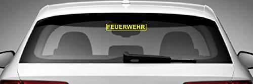 Dinger-Design Feuerwehr Aufkleber Polizei 2 DRK Sticker Decal Stickerbomb gelb 20x4cm