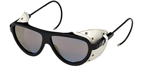 Moncler Unisex-Erwachsene Sonnenbrille ML0004 01G 57, Schwarz (Nero Lucido/Marrone Specchiato)