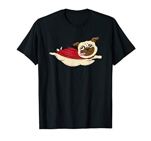 Supermops T-SHIRT Mops Superheld Hund Haustier lustig