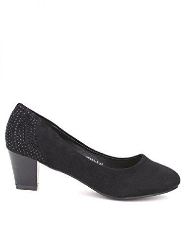 Cendriyon, Escarpin daim noir CINK MODA Chaussures Femme Noir