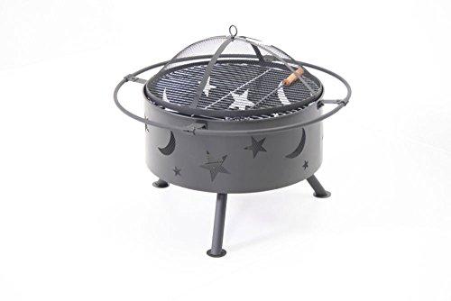 Gartenkamin und Grill Moon and stars Ø 74 cm und 55 cm hoch