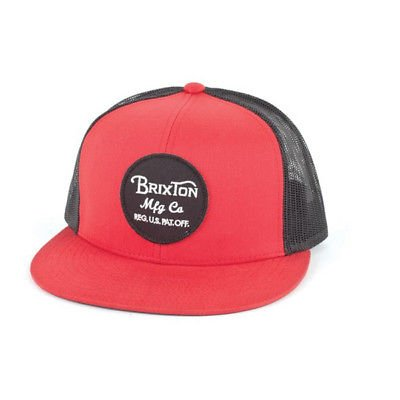 Brixton Wheeler Casquette Snapback rouge