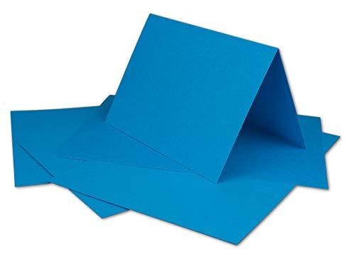 50 DIN A6 Doppelkarten Azurblau - 14,8 x 21 cm offen 10,5 x 14,8 cm gefaltet - 180 g/m² - aus der Serie Colours-4-you - Glüxx-Agent - 520 Tintenstrahl-drucker