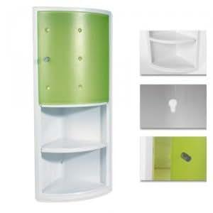 Meuble armoire d 39 angle pour salle de bain epsilon pvc - Meuble d angle pour salle de bain ...