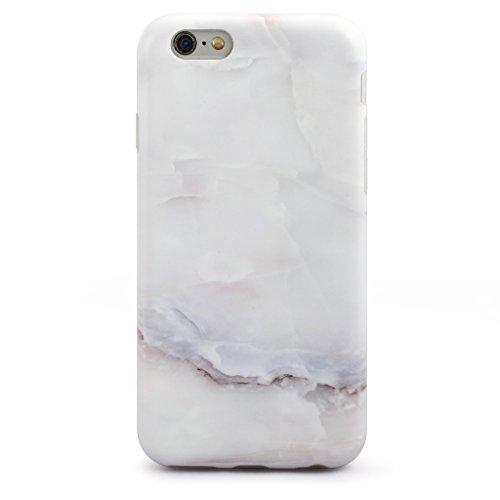 SGSELLER 4.7 iPhone 6 6S TPU Slim Fit Ultra Dünn Stoßfest Anti-Kratz Anti-Fingerabdruck Matt Schutzhülle Gehäuse, Plastik, Marmor (Holz) Marmor (Muschel Weiß)