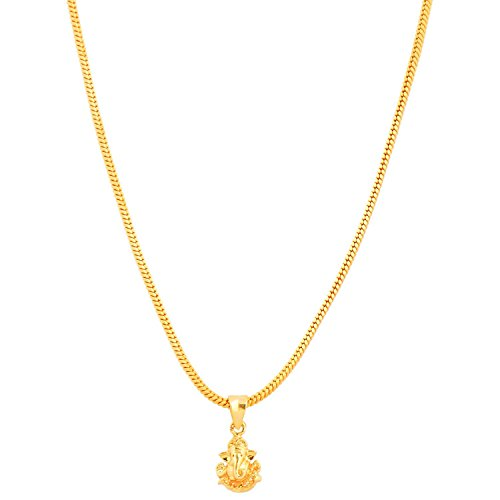 Handicraft Kottage Gold Metal Ganesha's Pendant for Women & Men and Kids
