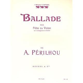 Albert Perilhou: Ballad (Flte/Violin/Piano)