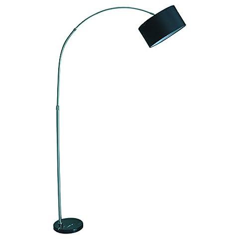 NAUY- Lampes sur plancher, créatif, salon simple, chambre à coucher, étude de chevet, protection des yeux, lampe de bureau verticale ( Couleur : Black shade )