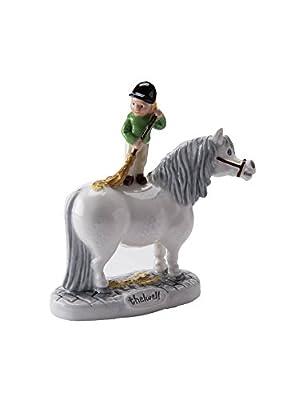 Thelwell Pony Figurine - 'Brush Your Pony' - Grey