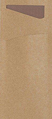 to Besteck Taschen mit gefaltet Tissue Servietten Innen, 8,5cm x 19cm, Eco Echo Sacchetto und Kastanie Serviette (500Stück) ()