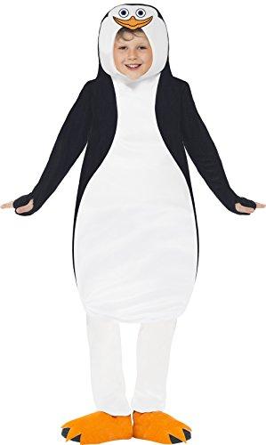 Smiffys, Kinder Unisex Pinguin Kostüm, Tunika aus Schaumstoff und Schuhüberzieher, Die Pinguine aus Madagscar, Größe: M, 20492