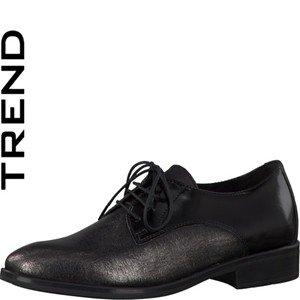 Tamaris  1-1-23210-35/993-993, Chaussures de ville à lacets pour femme 993PEWTER/BLK BR