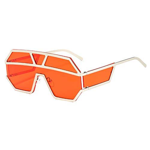 JiXuan New One Piece Objektiv Sonnenbrille Frauen Übergroßen Quadratischen Sonnenbrille Männer Sonnenbrille Shades UV400 C6
