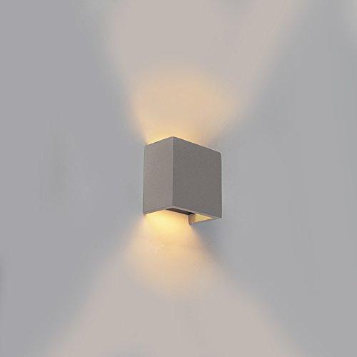 QAZQA Industrial Aplique industrial cuadrado gris