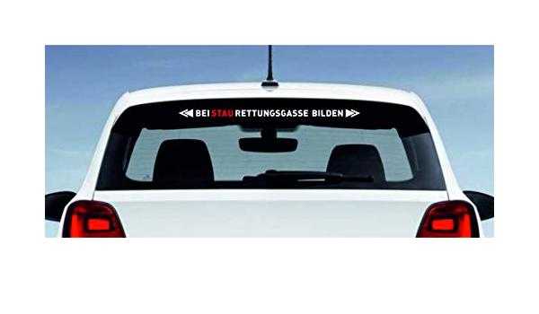 5 Stck Aufkleber Bei Stau Rettungsgasse Bilden Sticker Thw Drk Adac Polizei Feuerwehr Maße 60cm X 3cm Auto