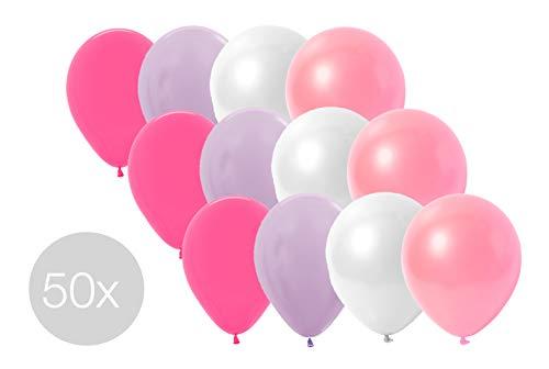 TK Gruppe Timo Klingler 50x Luftballons Ballons für Helium und Luft in vielen Farben (4X Farbenmix rosa)