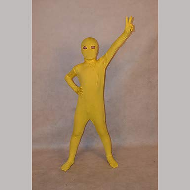 HAOBAO Zentai Anzüge Ninja Fest/Feiertage Halloween Kostüme Gelb einfarbig Zentai Kostüme Kind Lycra, 10 * 5 (Kind Gelb Ninja Kostüm)