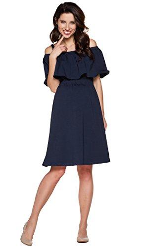 *Be! Mama 2in1 Umstandskleid, Stillkleid, Damenkleid aus Baumwolle, Modell: MIMI, dunkelblau, L*
