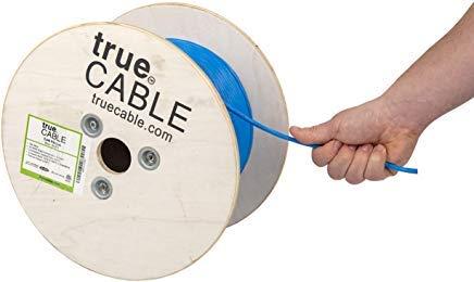Cat6Plenum (CMP), 500ft, blau, Kupfer massiv blank Bulk Ethernet Kabel, 550MHz, ETL gelistet; 23AWG 4Paar, Unshielded Twisted Pair (UTP), truecable (500 Cat6-spule)