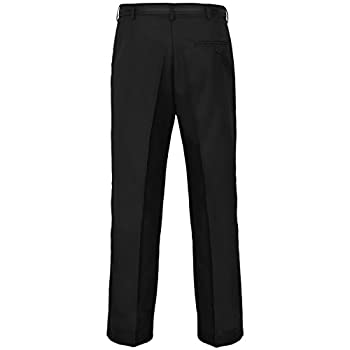 Myshoestore® Mens Formal Trousers Casual Business Office Work Home Belted Smart Dress Pants Straight Leg Flat Front Everpress Pockets Plus Free Belt Big King Sizes 2