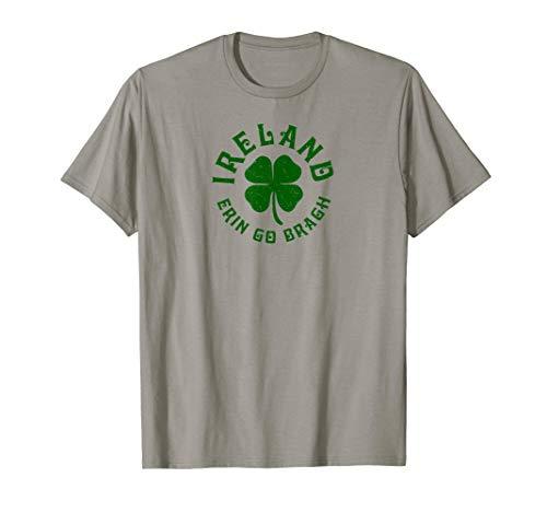 Irland Erin Gehen Bragh Lucky Clover  T-Shirt -