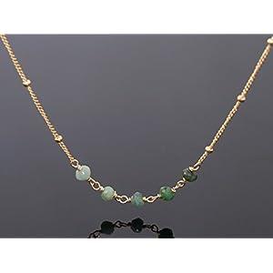 Smaragd Satelliten Kette Silber oder Gold filled Farbverlauf