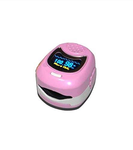 *JCMCWY* Medizinisches pädiatrisches Pulsoximeter des Ausgangs-O LED für Kinder und Blutsauerstoffmonitor SPO2 der Kinder mit Akku,Pink
