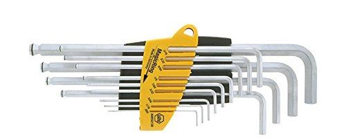 Wiha 369R SZ13 Jeu de clés mâles 6 pans à tête sphérique en étui ProStar jaune, 13 pièces
