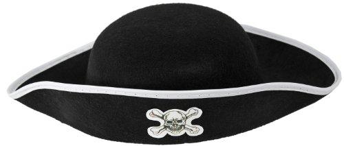 Großartige Kinder Piraten Mütze Schwarz!
