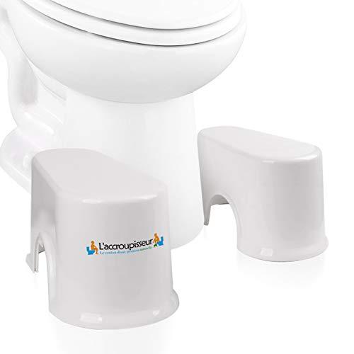 Taburete para inodoro Recomendado por médicos - Versión compacta 17 cm Espacios pequeños ideales - escabel baños Fisiológico