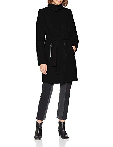 VERO MODA Damen Mantel VMBESSY Class 3/4 Wool Jacket NOOS, Schwarz Black, 36 (Herstellergröße: S) - 3