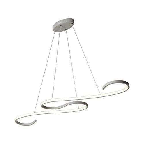 GTTflower Moderne LED Stufenlos Dimmbar Mit Fernbedienung Kronleuchter Kreativen Stil Aluminium Art Deco Decke Pendelleuchte Leuchten Für Esszimmer Badezimmer Schlafzimmer Küche Flur Beleuchtung (Deco Decken-leuchte Art)