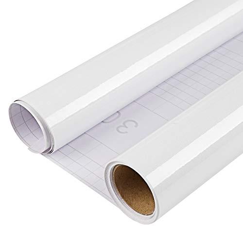 DTC 0.25M x 0,61M PVC Selbstklebend Tapete Küchen Aufkleber, Freier Schaber, Wasserfest Schrank Fensterbank folie Tapeten Vinyl für Wände Wand Türen Möbel Deko, 25 x 61cm Weiß Probe -