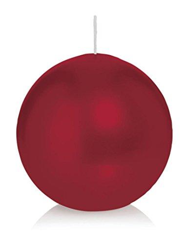 Bougie ronde 6 Ø 100 mm Bordeaux, Brûler temps en heures 46, Bougies pour l'événement, partie, occasion, baptême, mariage, Avent, Noël, décoration