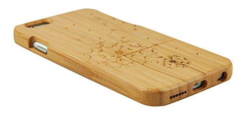 SunSmart Einzigartigen, handgefertigten Original Natural Wood Holzfest Bambus Case/Hülle/Tasche für iPhone 6 Plus 5.5'' (baum) löwenzahn