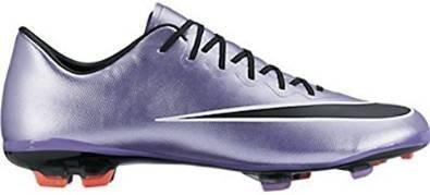 Nike - Jr Mercurial Vapor X Fg, Scarpe sportive Bambina Multicolore (Plateado / Negro / Blanco (Urban Lilac / Blck-Brght Mng-Wht))