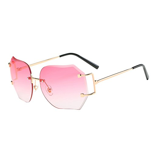 Unisex Sunglasses, Rcool Women Men Fashion Square Gradient Color Sunglasses Classic Tone Luxury Aviator Mirror Lens Glasses Travel Sunglasses