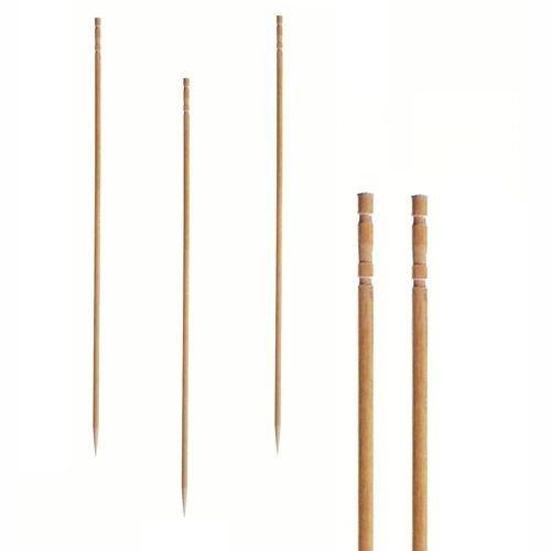 """Papstar Fingerfood-Spieße / Holzspieße """"Pure"""" (500 Stück) 15 cm, Naturholzspieße aus Bambus mit gedrechseltem Ende, für Fingerfood, kleine Snacks, Antipasti und Cocktails, stilvolles Design #81097"""