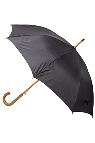 Mountain Warehouse Classic Umbrella - Plain - Lightweight, Durable, Curved