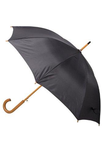 Mountain Warehouse Klassischer Regenschirm - einfarbig Schwarz